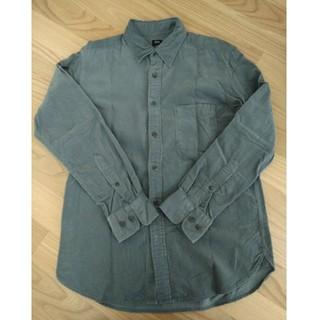 ユニクロ(UNIQLO)の【最終SALE】ユニクロ コーデュロイシャツ グレー メンズS(シャツ)