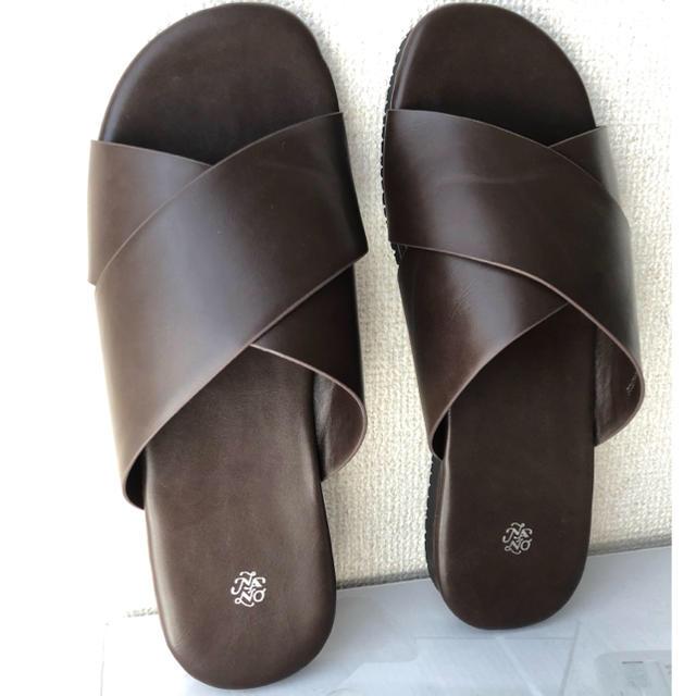 nano・universe(ナノユニバース)のナノユニバース   サンダル  ブラウン レディースの靴/シューズ(サンダル)の商品写真