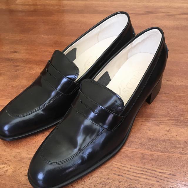 TOD'S(トッズ)のトッズローファー ブラック❤️未使用品 レディースの靴/シューズ(ローファー/革靴)の商品写真