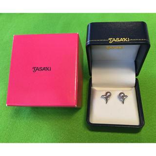 タサキ(TASAKI)の14金 田崎真珠 タサキ イヤリング グレー ダイヤモンド パール 真珠(イヤリング)