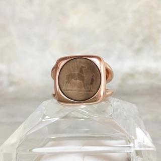 エルメス(Hermes)の正規品 エルメス 指輪 コロゾ 馬 ゴールド 象牙 ヤシ 金 リング ホース 丸(リング(指輪))
