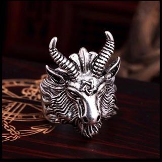 メンズ バフォメット リング【新品】23号 悪魔 サタン 山羊 ヤギ 指輪(リング(指輪))