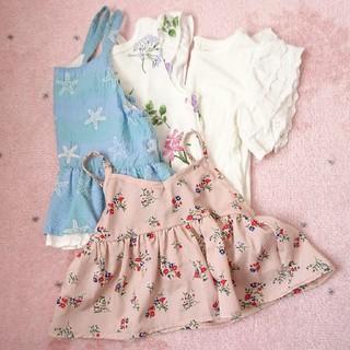 女の子 トップス 夏服 4点セット 100cm(Tシャツ/カットソー)