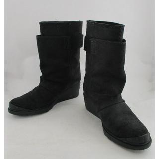 ソレル(SOREL)の専用◇美品 SOREL ソレル ショートブーツ ブラック 24cm サイズ 38(ブーツ)