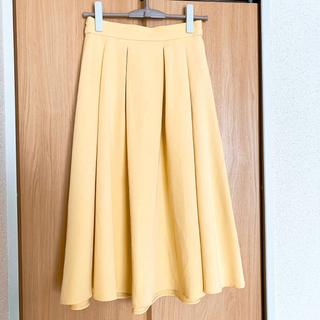 シマムラ(しまむら)のフレアスカート イエロー✨Lサイズ 美品(ひざ丈スカート)