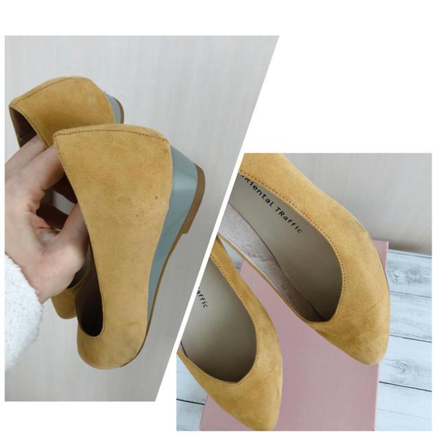 ORiental TRaffic(オリエンタルトラフィック)のVカット ウエッジソール パンプス 7160 イエロー  39 レディースの靴/シューズ(ハイヒール/パンプス)の商品写真