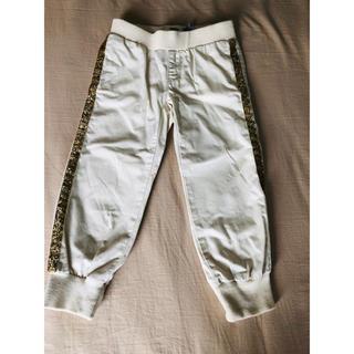 オールドネイビー(Old Navy)のオールドネイビー 白 横ゴールド線 パンツ 3T 美品(パンツ/スパッツ)