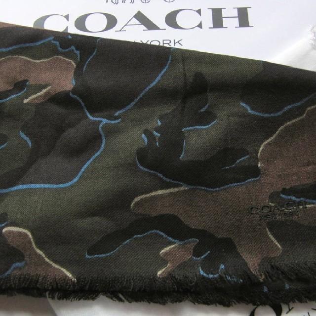 5e693c6ebe39 COACH(コーチ)の正規品保証 コーチ カモフラージュ 迷彩柄 ウール マフラー 新品 メンズ