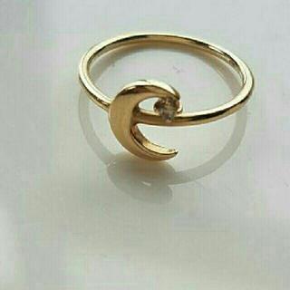 ジュエティ(jouetie)のJouete k10 ブラウンダイヤ付きピンキーリング(リング(指輪))