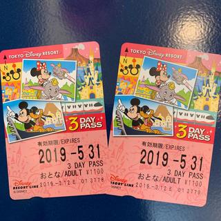 ディズニー(Disney)のディズニーリゾートライン 3day PASS(遊園地/テーマパーク)
