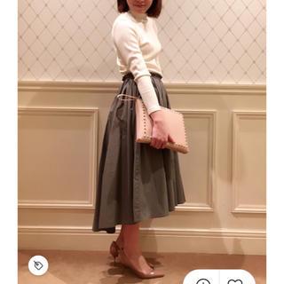デミルクスビームス(Demi-Luxe BEAMS)のデミルクス ビームス タイプライターギャザースカート フレアスカート スカート(ひざ丈スカート)