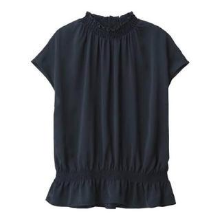 ジーユー(GU)のフリルネックブラウス(シャツ/ブラウス(半袖/袖なし))