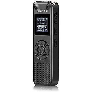 PECHAM 小型 icレコーダー 8GB ボイスレコーダー マイクロ sd対応(その他)