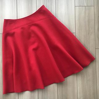 フランコフェラーロ(FRANCO FERRARO)のFRANCO FERRAROフランコフェラーロ☆*°ワッフルスカート赤(ひざ丈スカート)