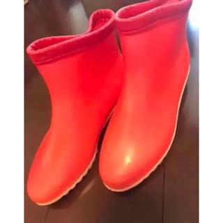 アサヒシューズ(アサヒシューズ)のカラーレインシューズ 長靴 赤 レッド 23 s〜m 遠足 雨 傘 海(レインブーツ/長靴)