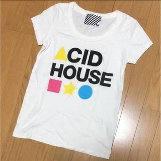 スライ(SLY)のUSA☆SLY☆カラフルロゴTシャツ☆ホワイト1(Tシャツ(半袖/袖なし))