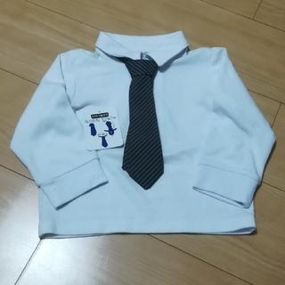 ニシマツヤ(西松屋)の男児 ネクタイ付きシャツ 95(ドレス/フォーマル)