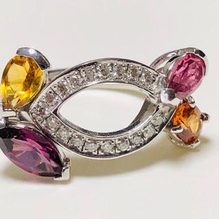 k18 WG ダイヤモンド 宝石ジュエリーリング(リング(指輪))