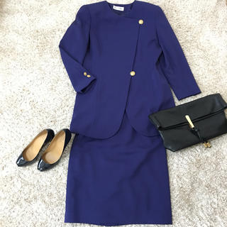 【Miss ONEARD】スーツ上下セット(M) 紫 ゴールド バブル (スーツ)