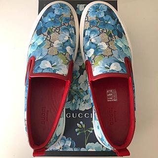 グッチ(Gucci)の❤️グッチ❤️お値下げ❣️GGブルームス💕ブルー系スリッポン38.5♪(スリッポン/モカシン)