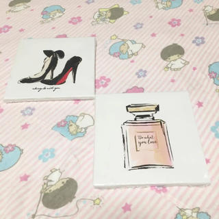 フランフラン(Francfranc)の【激レア】Cando アートパネル ハイヒール 香水瓶 ミニパネル アートボード(パネル)