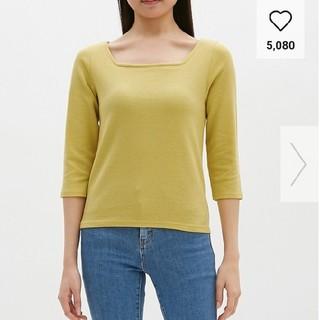 ジーユー(GU)のGU スクウェアネックTシャツ(Tシャツ(長袖/七分))
