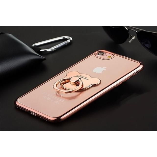 iphoneカバー ディズニー - 送料込み  ベア リング付ソフトアイフォンケースの通販 by ココアショップ|ラクマ
