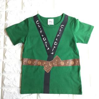 チップアンドデール(チップ&デール)の【 120 】チップ & デール はっぴ風 半袖 Tシャツ 緑 ディズニー(Tシャツ/カットソー)