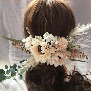 アネモネヘッドパーツ髪飾り(ヘアアクセサリー)