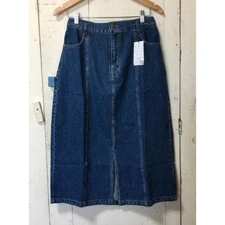 クレット(clette)の大きいサイズ clette オリジナル デニムタイトスカート ブルー(ロングスカート)