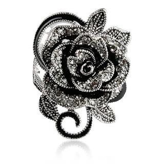ローズ 薔薇 AAAランク ブラックダイヤcz 13号 リング 指輪(リング(指輪))