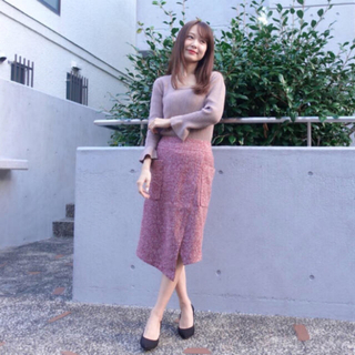 シェリーモナ(Cherie Mona)のウールスリットスカート(ひざ丈スカート)