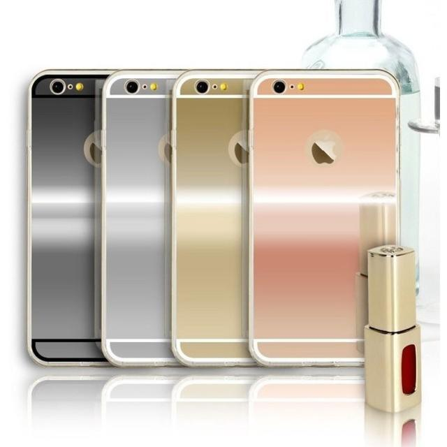 iPhone ケース 鏡 ミラー TPU カバーCA0113の通販 by Sweet Angel|ラクマ