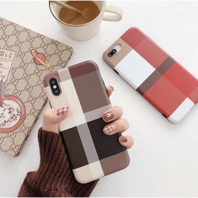 おしゃれ チェック ブラウン iPhoneケースCA-174180の通販 by ココアショップ|ラクマ