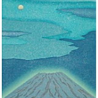 渡辺裕司  月光富士木版画(絵画/タペストリー)