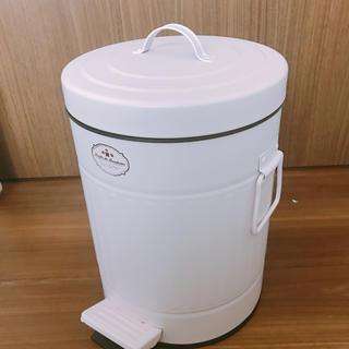 フランフラン(Francfranc)のお値下げしました!蓋つきゴミ箱 二重 ダストボックス ピンク(ごみ箱)