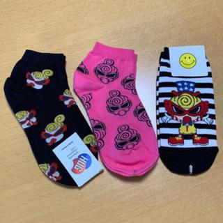 ヒステリックミニ(HYSTERIC MINI)のヒスミニ 靴下 新品未使用 3枚セット(ソックス)