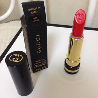 online retailer 11654 da13f Gucci - GUCCI 口紅 リップ【660】の通販|ラクマ