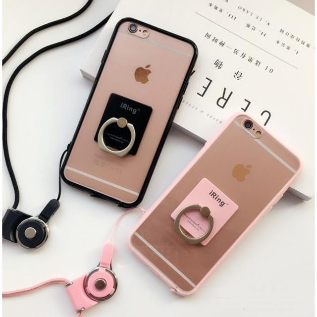 新品  落下防止リング付 クリア  iPhoneケース スマホケースの通販 by mona shop|ラクマ