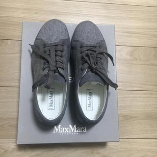 マックスマーラ(Max Mara)の新品 Max Mara カシミヤレザースニーカー 24.5cm(スニーカー)