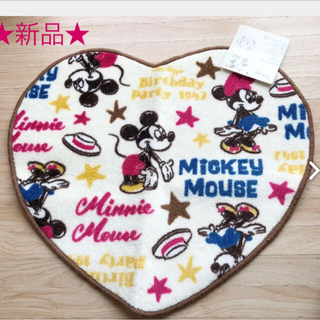 ディズニー(Disney)の新品 ☆ ミッキー ミニー トイレマット ディズニー ハート(トイレマット)