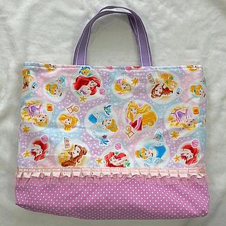 ディズニー(Disney)の入園・入学に♡プリンセス♡フリル レッスンバッグ(バッグ/レッスンバッグ)