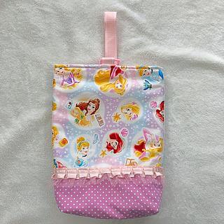 ディズニー(Disney)の入園・入学に♡プリンセス♡フリル 上履き袋(シューズバッグ)