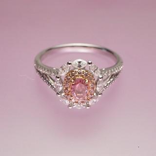 ♡ピンクダイヤモンドリング(リング(指輪))