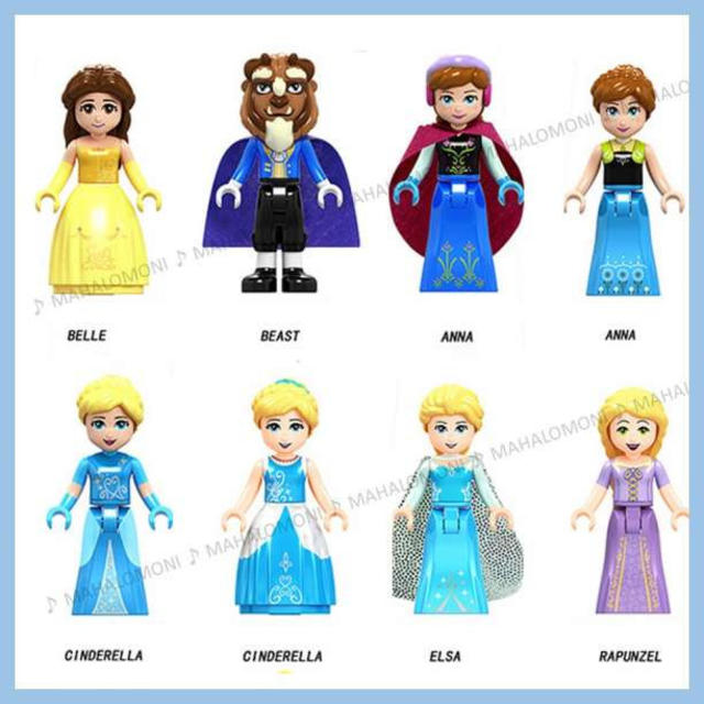 アニマル フィギュア セット | LEGO レゴ 互換 プリンセス (C) 8体セット ディズニー 美女と野獣ほかの通販 by MAHALOMONI's shop|ラクマ