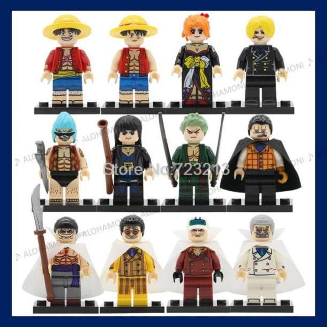 小鳩 フィギュア / LEGO レゴ 互換 ワンピース ONE PIECE ミニフィグ 12体セットの通販 by ALOHAMONI|ラクマ
