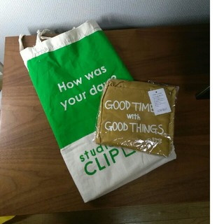 スタディオクリップ(STUDIO CLIP)のスタジオクリップ ノベルティ エコバッグ リュックタイプ おまけ付き(エコバッグ)