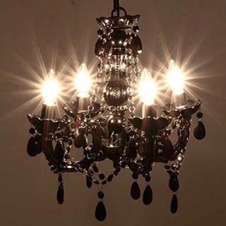 フランフラン(Francfranc)のシャンデリア ブラック アンティーク ロココ (天井照明)