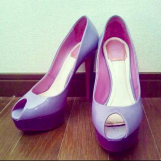 クリスチャンディオール(Christian Dior)のChristian Dior プラットフォーム パンプス ディオール ピンク 紫(ハイヒール/パンプス)
