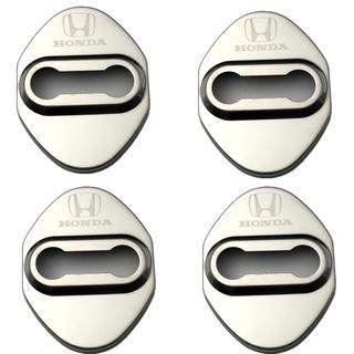 ホンダ(ホンダ)の新品 ホンダHONDAドアロックカバー4枚セット シルバー色メッキ(汎用パーツ)